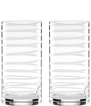 Image of kate spade new york Charlotte Street Spiral Highball Glass Pair
