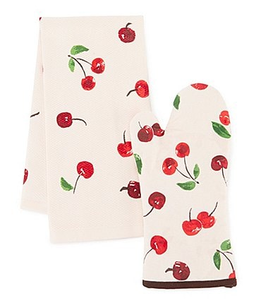 Image of kate spade new york Cherry On Top 2-Piece Kitchen Linens Set