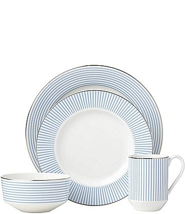 Image of kate spade new york Laurel Street Porcelain 4-Piece Place Setting