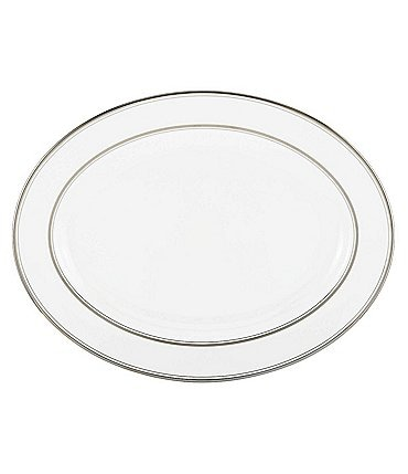 "Image of kate spade new york Library Lane Platinum 16"" Oval Platter"