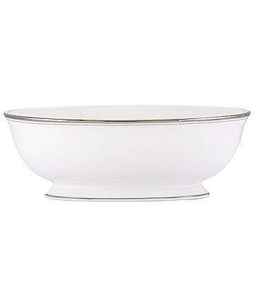 Image of kate spade new york Library Lane Platinum Oval Vegetable Bowl