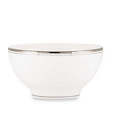 Image of kate spade new york Library Lane Platinum Rice Bowl