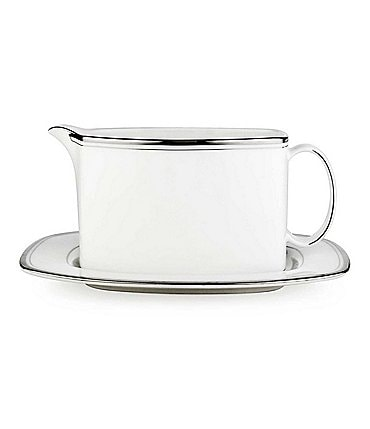 Image of kate spade new york Library Lane Sauce Boat & Stand
