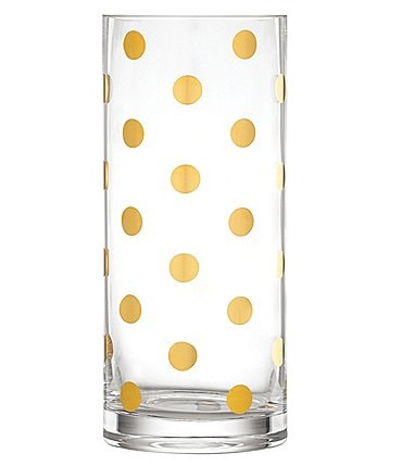 Image of kate spade new york Clear White Gold Vase