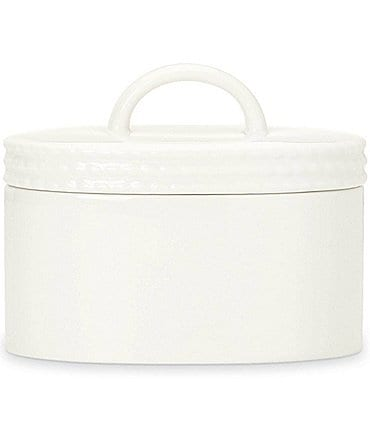 Image of kate spade new york Wickford Rope-Embossed Porcelain Sugar Bowl with Lid