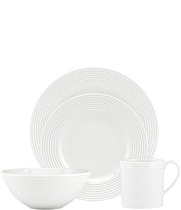 Image of kate spade new york Wickford Rope Porcelain 4-Piece Place Setting