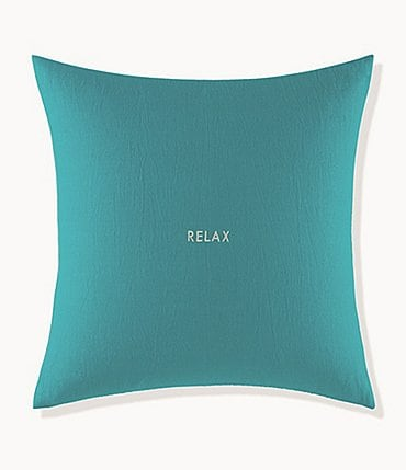Image of kate spade new york Words of Wisdom Collection Relax Cotton & Linen Square Pillow