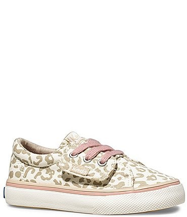 Image of Keds Girls' Jumpkick Jr Leopard Print Sneakers (Infant)