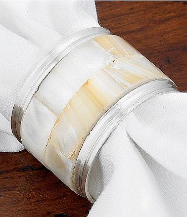Image of Kemp & Beatley Mother-of-Pearl Napkin Ring