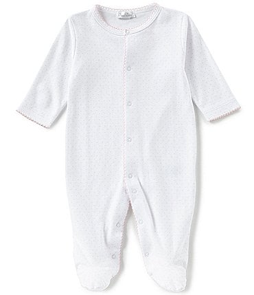 Image of Kissy Kissy Baby Girls Newborn-9 Months Dot Print Footed Coveralls