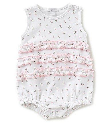 Image of Kissy Kissy Baby Girls Newborn-9 Months Garden Print Bubble Shortall