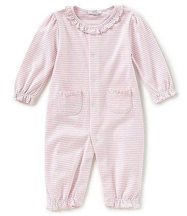 Image of Kissy Kissy Baby Girls Newborn-9 Months Simple Stripes Coverall