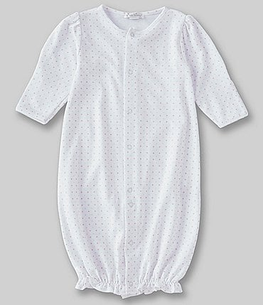 Image of Kissy Kissy Baby Girls Newborn Dotted Convertible Gown
