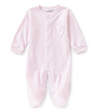 Image of Kissy Kissy Baby Girl Newborn-9 Months Stripe Footed Coveralls