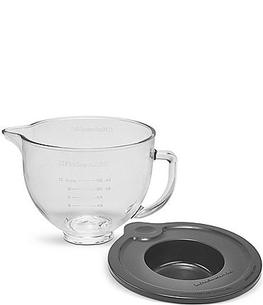 Image of KitchenAid 5-Quart Tilt-Head Glass Bowl with Measurement Markings & Lid