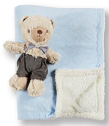 Image of Kyle & Deena Baby Boys Bow-Tie Bear & Blanket Set