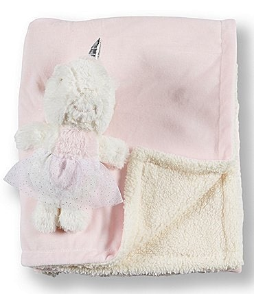 Image of Kyle & Deena Baby Girl Blanket & Plush Toy Two-Piece Set