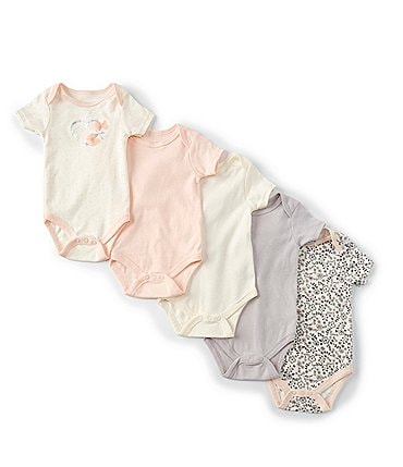 Image of Kyle & Deena Baby Girls Newborn-9 Months Heart Bodysuit 5-Pack
