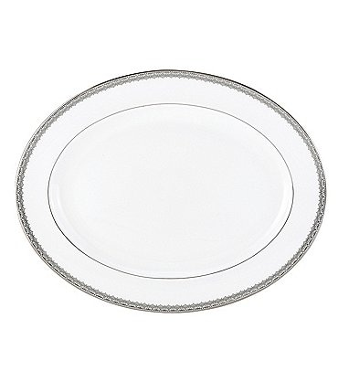 Image of Lace Couture Platinum Oval Platter