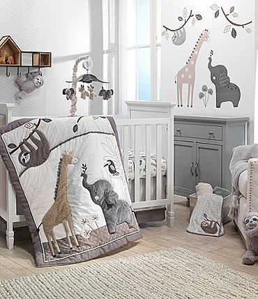 Image of Lambs & Ivy Baby Jungle Animals 4-Piece Crib Bedding Set