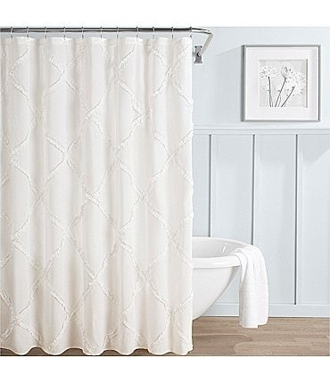 Image of Laura Ashley Adelina Ruffled Shower Curtain