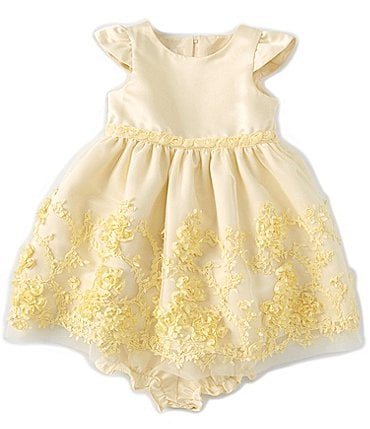 Image of Laura Ashley Baby Girls 12-24 Months Mesh Soutache-Border Fit-And-Flare Dress