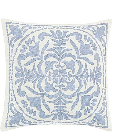 Image of Laura Ashley Mila Embroidered Medallion Throw Pillow