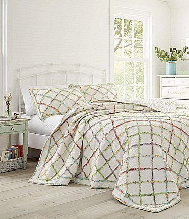 Image of Laura Ashley Ruffled Garden Quilt