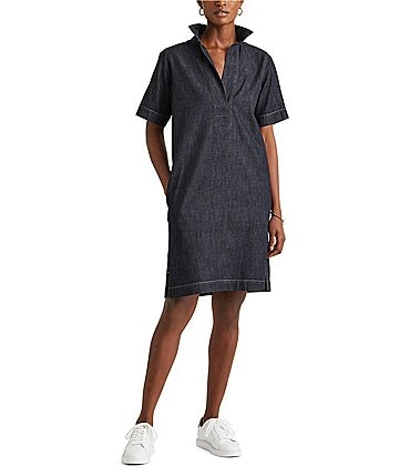 Image of Lauren Ralph Lauren Denim Shift Dress
