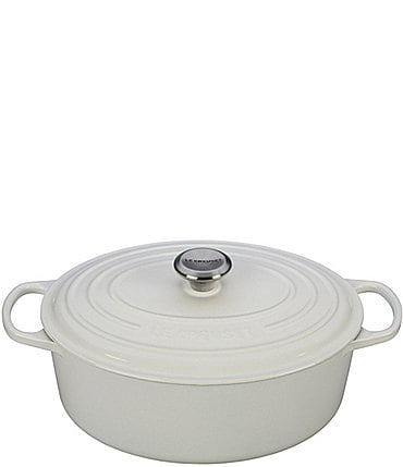 Image of Le Creuset 6.75-Quart Signature Oval Dutch Oven