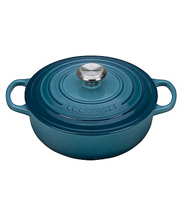 Image of Le Creuset Signature 6.75-Quart Enamel Cast Iron Round Wide Dutch Oven
