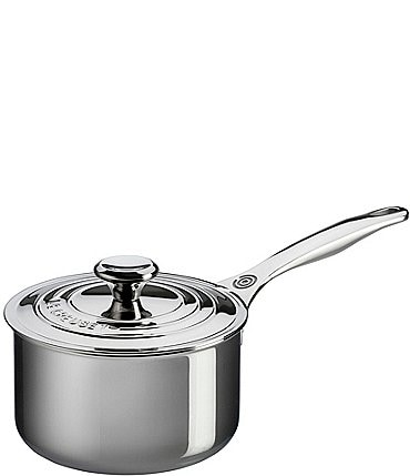Image of Le Creuset Stainless Steel Saucepan with Lid