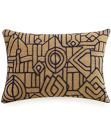 Image of LEMIEUX ET CIE Embroidered Hemp Breakfast Pillow