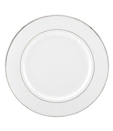 Image of Lenox Artemis Floral Platinum Bone China Salad Plate
