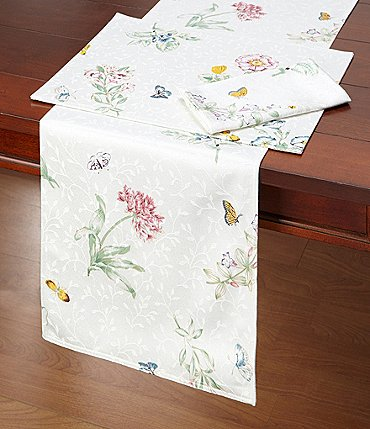Image of Lenox Butterfly Meadow Floral Table Linens