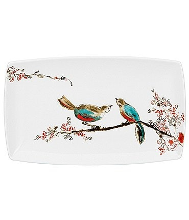 Image of Lenox Chirp Floral & Bird Bone China Tray