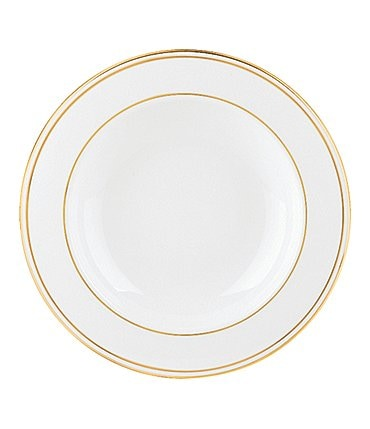 Image of Lenox Federal Gold Bone China Rimmed Soup Bowl