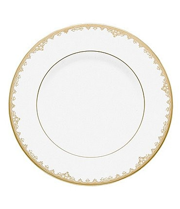 Image of Lenox Federal Gold Scalloped Bone China Accent Salad Plate