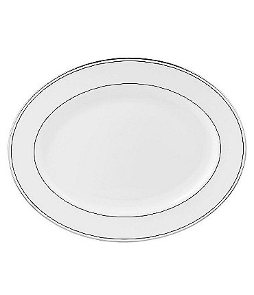 Image of Lenox Federal Neoclassical Platinum Bone China Oval Platter