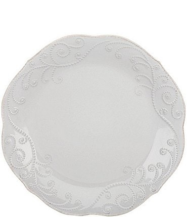 Image of Lenox 4-Piece French Perle Scalloped Stoneware Accent Plate Set
