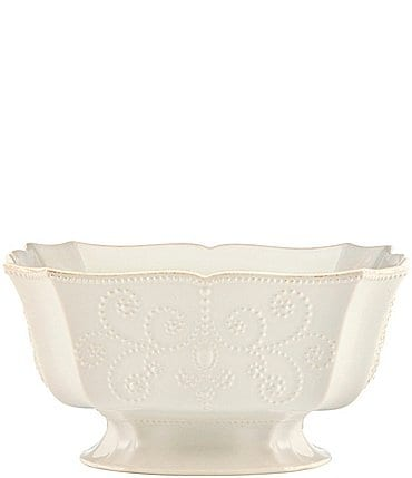 Image of Lenox French Perle Scalloped Stoneware Centerpiece Bowl