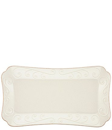Image of Lenox French Perle Scalloped Stoneware Hors dOeuvre Tray