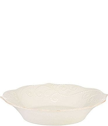 Image of Lenox French Perle Scalloped Stoneware Individual Pasta Bowl