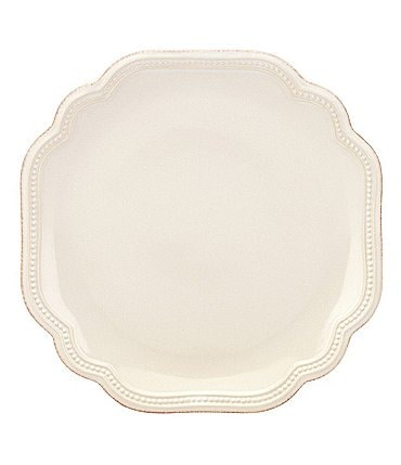 Image of Lenox French Perle Bead Scalloped Stoneware Salad Plate