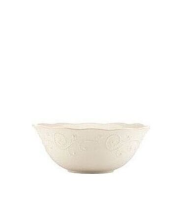 Image of Lenox French Perle Scalloped Stoneware Serving Bowl