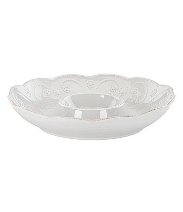 Image of Lenox French Perle Chip & Dip Server