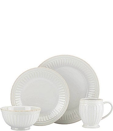 Image of Lenox French Perle Groove 4-Piece Place Setting