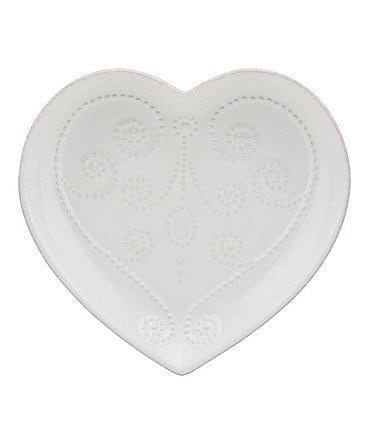 Image of Lenox French Perle Scalloped Stoneware Heart Dish