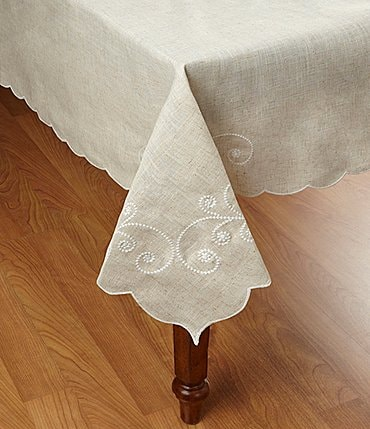 Image of Lenox French Perle Scroll Tablecloth