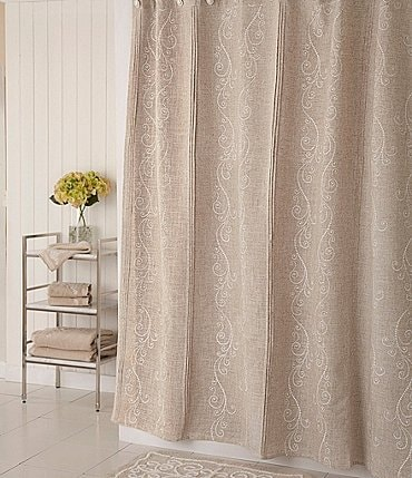 Image of Lenox French Perle Shower Curtain